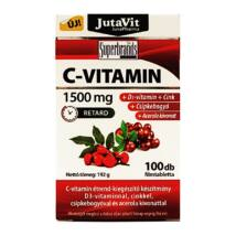JutaVit C-Vitamin 1500mg +csipkebogyó +Acerola kivonat + D3 vitamin + Cink,
