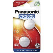 Panasonic CR2025L/2BP lítium gombelem (2 db / bliszter) CR2025-2B-PAN