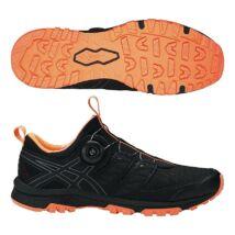 Asics Gel-FujiRado (féri) futócipő (fekete-narancs)   T7F2N-9097