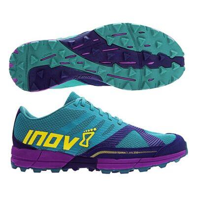 inov-8 Terraclaw 250 női terepfutócipő (zöldeskék-tengerkék-lila) Standard fit (Shoes)
