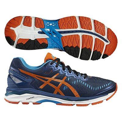 Asics Gel-Kayano 23 férfi futócipő (kék-narancs-világoskék) T646N-5809