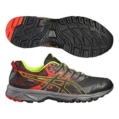 Asics Gel-Sonoma 3 GTX férfi futócipő (élénkpiros-fekete-sárga) T727N-2390