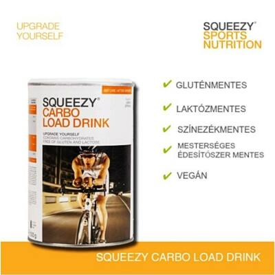 SQUEEZY CARBO LOAD DRINK narancsos ízű sportita