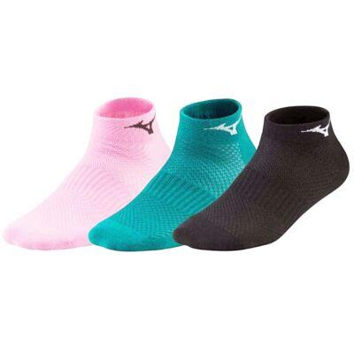 Mizuno futózokni 3 pár pink-zöld-fekete 67UU95063