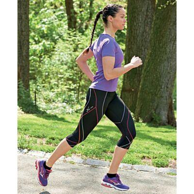 CW-X Pro 3/4-es futónadrág színes csíkokkal, női 140806-977