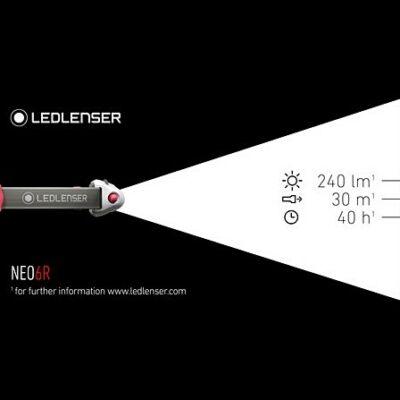 LEDLENSER futólámpa NEO4 240lm elemes fejlámpa zöld NEO4G-500915_b